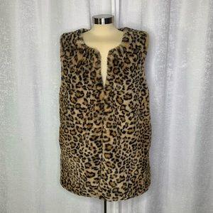 INC international concepts leopard duster vest